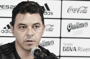 El Muñeco habló de todo en la previa del partido ante el Rojo (Foto: Prensa River)