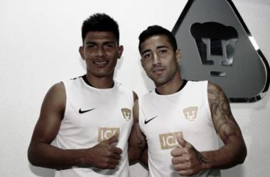 Luis Fuentes y Gallardo en el Estadio de Ciudad Universitaria. (Foto: Pumas MX)