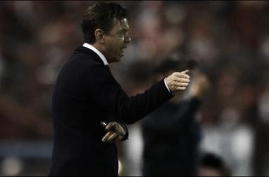 Gallardo conforme con el rendimiento de sus dirigidos a pesar del resultado (Foto: Diego Haliasz | Prensa River)