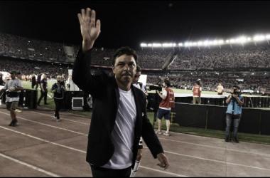 Gallardo lleno de elogios a su equipo tras la gran actuación frente a la Academia (Foto: Getty)