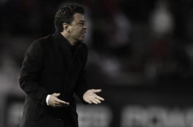 El Muñeco ya piensa en el cruce copero frente al Xeneize (Foto: Prensa River Plate)