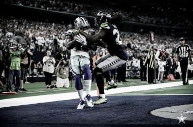 Michael Gallup anota el touchdown para Dallas. Los vaqueros serán un rival muy duro en la Ronda Divisional. (Imagen: Cowboys.com)