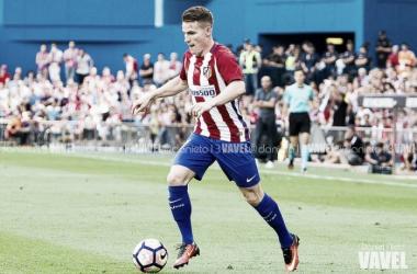 Kevin Gameiro durante un encuentro con el Atlético de Madrid. Fuente: Daniel Nieto (VAVEL).