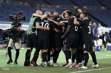 Los alemanes se llevaron una victoria importantísima / foto: @DFB_Team_EN