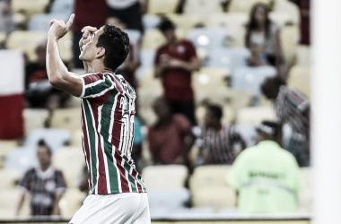 Ganso comemorando primeiro gol pelo Flu (Foto: Lucas Merçon / Fluminense FC)