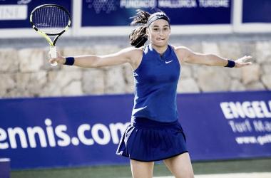Garcia, durante un partido en Mallorca. Foto: WTA