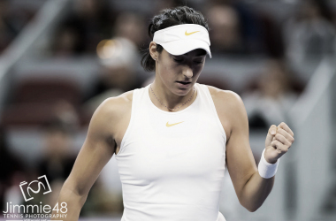 Caroline Garcia's willpower saw her through to the tough first-round win | Photo: Jimmie48 Tennis Photography