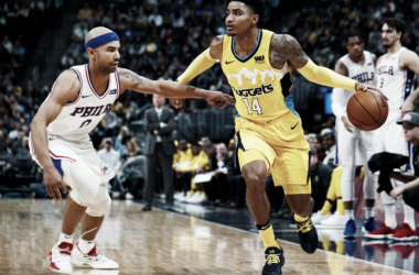 Gary Harris, esta temporada con los Nuggets. Foto: Associated Press