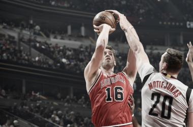 Pau Gasol foi o cestinha dos Bulls na partida que decretou fim da sequência de derrotas (Foto: Reprodução/Chicago Bulls)