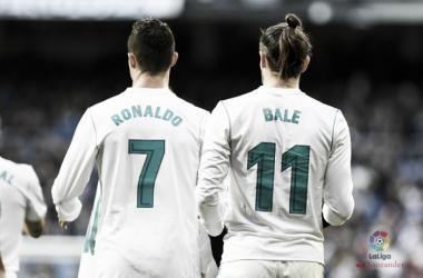 Cristiano Ronaldo e Gareth Bale. Fonte: LaLiga.es