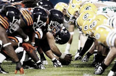 Las lineras de Green Bay Packers y Chicago Bears en uno de sus enfrentamientos (foto NFL.com)