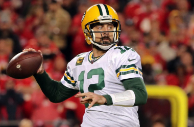 Rodgers drops back for a pass as the Green Bay Packers are throttled in San Francisco.