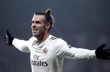 Gareth Bale celebrando un gol anotado en Champions League./Diario gol.
