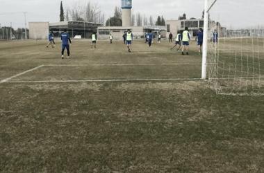Los jugadores estuvieron a las órdenes de Larriera. Foto:Vavel Godoy Cruz