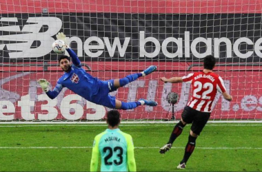 Rui Silva parando un penalti | Foto: LaLiga