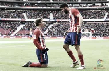 Griezmann e Diego Costa. Fonte: LaLiga.es