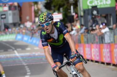 Valverde rétabli une anomalie en remportant une étape sur le Giro (Crédit : Twitter @giroditalia)