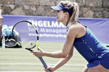 Eugenie Bouchard in action during the Mallorca Open (Photo: Mallorca Open)