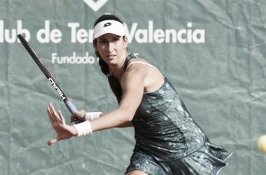 Georgina García durante un partido | Foto: Mutua Madrid Open
