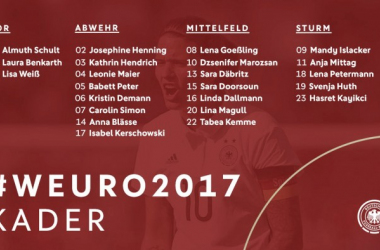The full 23-player squad for Germany | Source: @DFB_Frauen