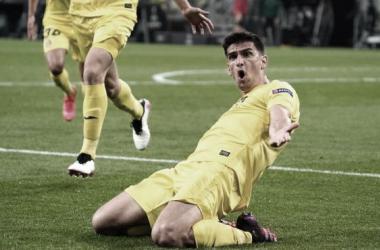 Gerard Moreno celebrando su gol de la Europa League | Foto: UEFA Europa League
