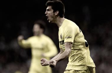 Gerard Moreno celebrando un gol/ Fuente: Villarreal CF
