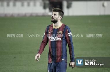 Gerard Piqué en la remontada copera contra el Sevilla. | Foto: Noelia Déniz (VAVEL)