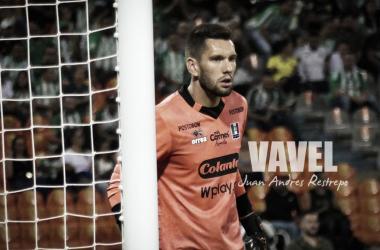 Gerardo Ortiz se destacó en el partido con sus atajadas. Foto: Juan Andrés Restrepo (VAVEL Colombia)