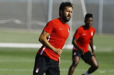 Germán durante un entrenamiento de esta temporada | Foto: Pepe Villoslada / Granada CF