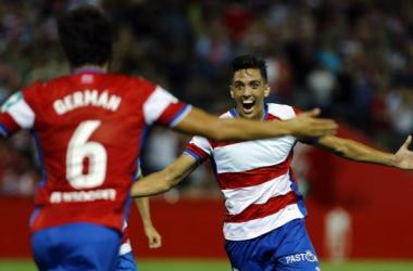 Germán y Martínez, centrales titulares del Granada CF | Foto: La Liga