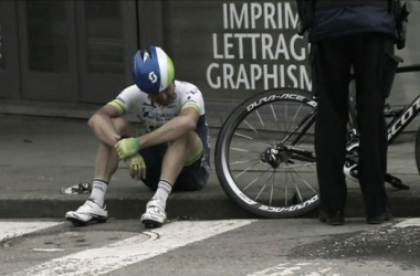 Gerrans has suffered a number of crashes this season. (Image: sbs.com.au)