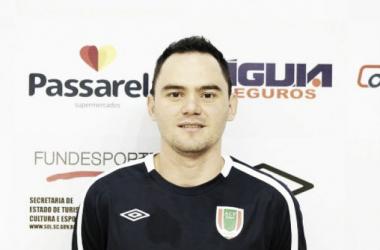 Gesse chegou ao Concórdia nesta temporada, vindo do Carlos Barbosa (Foto: Reprodução/Futsal Concórdia)