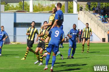 Partido de la primera vuelta entre Getafe B 0-2 Portugalete