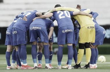 El equipo azulón formando una piña // Fuente: Getafe CF