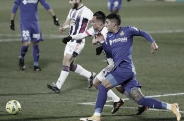 Partido de ida de LaLiga Santander, Getafe vs Valladolid // Fuente: Real Valladolid