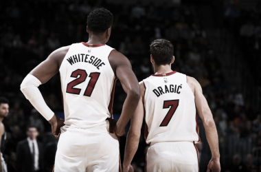 Whiteside y Dragic en un partido. NBA.com | Whiteside y Dragic en playoffs