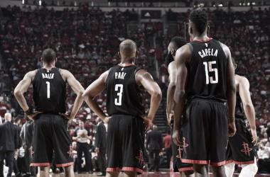Rockets tras la derrota contra Jazz/ Foto: nba.com