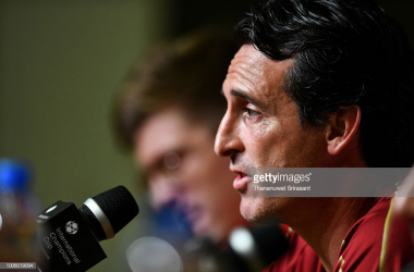 Unai Emery speaks to press. | Source: Thananuwat Srirasant