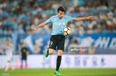 <strong>Gaitán playing for&nbsp;</strong><strong>Dalian Yifang: (Getty Images: VOG)</strong>