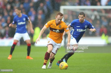 Johnson in action for Motherwell against Rangers last season. Source: GettyImages