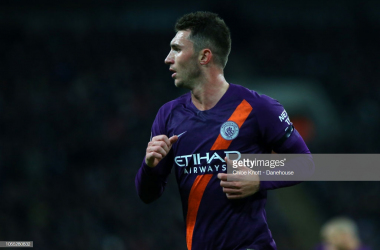 Aymeric Laporte in action against Tottenham Hotspur