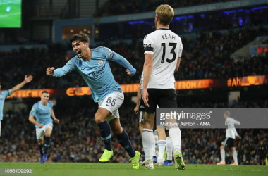 <div>MANCHESTER, ENGLAND - NOVEMBER 01: Brahim Diaz of Manchester City celebrates after scoring a goal to make it 1-0 during the Carabao Cup Fourth Round match between Manchester City and Fulham at Etihad Stadium on November 1, 2018 in Manchester, England. (Photo by Matthew Ashton - AMA/Getty Images)</div>