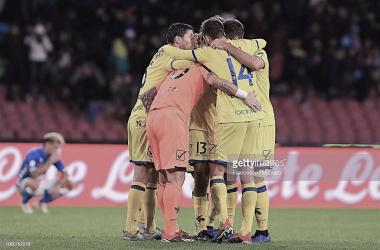 Chievo celebra. Foto: Getty images.