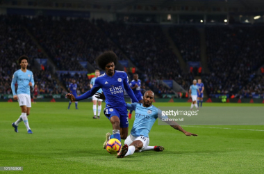 Fabian Delph was sent off in the latter stages of the game (Photo: Getty Images)