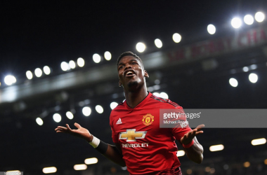 Pogba celebrates. (Photo: Getty Images/Michael Regen)
