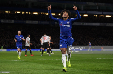 Willian proves the difference. (Photo: Getty Images/Darren Walsh)