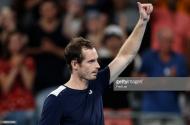 Murray acknowledges the crowd after his first-round match in Melbourne: Photo - Fred Lee/Getty Images