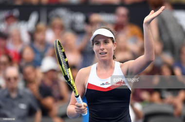 Konta acknowledges the crowd after defeating Stephens/Photo: Albert Perez/Getty Images
