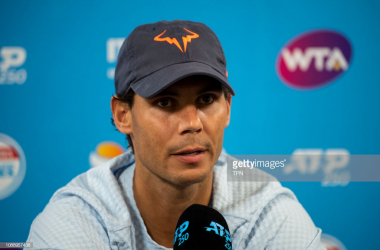 iNadal addresses the media in Brisbane/TPN via Getty Images