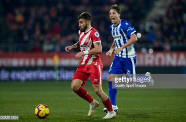 Portu in action for Girona (Image by Getty Images/Quality Sport Images)